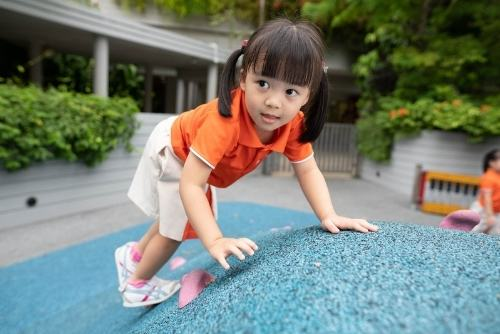 my first skool child in outdoor play preschool in singapore